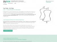 zutex.de Webseite Vorschau