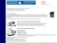 kirschbaum-maschinenbau.de Webseite Vorschau