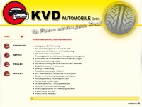 kvd-automobile.de Webseite Vorschau
