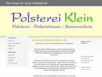 polsterei-klein.de Webseite Vorschau