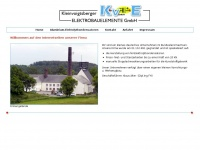 kve-elektro.de Webseite Vorschau