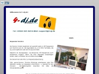4-dj.de Webseite Vorschau