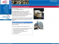 apl-apparatebau.com Webseite Vorschau
