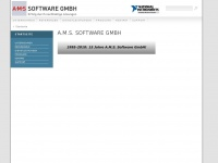 ams-soft.de Webseite Vorschau
