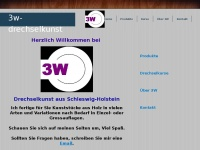3w-drechselkunst.de Webseite Vorschau