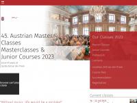 austrian-master-classes.com Webseite Vorschau