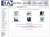 1a-computer-shop.de Webseite Vorschau
