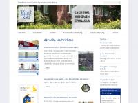 kvg-gymnasium.de Webseite Vorschau