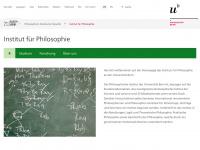 philosophie.unibe.ch Webseite Vorschau