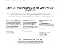 phasedrei.de Webseite Vorschau