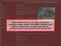 philippfleck.de Webseite Vorschau