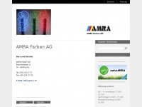 amra.ch Webseite Vorschau