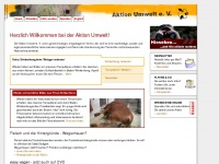 aktion-umwelt.de Webseite Vorschau