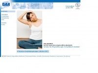 physiotherapieschule-gmuend.de Webseite Vorschau