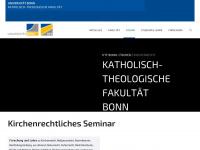 kirchenrecht.uni-bonn.de Webseite Vorschau