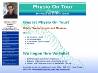 physio-on-tour.at Webseite Vorschau