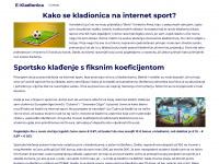 e-kladionica.net Webseite Vorschau