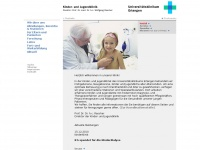 kinderklinik.uk-erlangen.de Webseite Vorschau