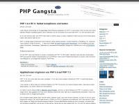 phpgangsta.de Webseite Vorschau