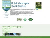 golfclubvinschgau.com Webseite Vorschau