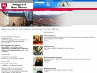 amtsgericht-hann-muenden.niedersachsen.de Webseite Vorschau