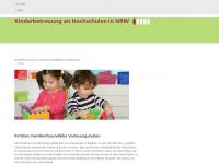 kinderbetreuung-hochschulen.nrw.de Webseite Vorschau