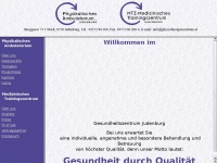 physiotherapiezentrum.at Webseite Vorschau