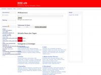 222.ch Webseite Vorschau