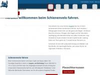 schienenvelo.ch Webseite Vorschau