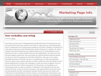 marketing-page.info Webseite Vorschau