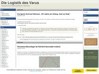 logistik-des-varus.de Webseite Vorschau