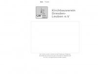 kirchbauverein-dresden-leuben.de Webseite Vorschau