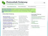 photovoltaik-foerderung.com Webseite Vorschau