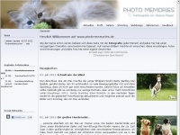 photo-memories.de Webseite Vorschau