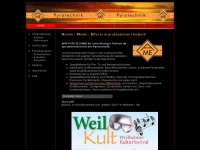 ame-pyrotechnik.de Webseite Vorschau