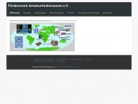amateurfunkmuseum.de Webseite Vorschau