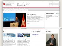 uvek.admin.ch Webseite Vorschau