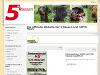 5rassen.ch Webseite Vorschau
