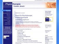physiotherapie-jaensch.de Webseite Vorschau