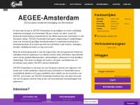 aegee-amsterdam.nl Webseite Vorschau