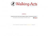 walking-acts.com Webseite Vorschau