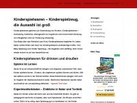 kinderspielwaren.org Webseite Vorschau
