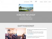kirche-neuhof.ch Webseite Vorschau