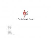 physiotherapie-parlow.de Webseite Vorschau