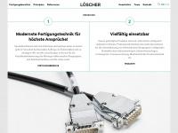 loescher-elektronik.at Webseite Vorschau