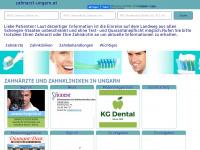 zahnarzt-ungarn.at Webseite Vorschau