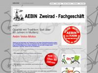 aebin-2rad.ch Webseite Vorschau