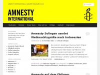 amnesty-solingen.de Webseite Vorschau