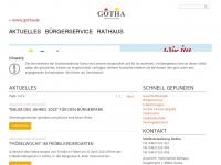gotha.de Webseite Vorschau