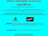 007.ch Webseite Vorschau
